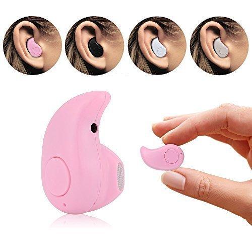 ONX 3 (rosa) Micromax Leinwand vereinen 4 Pro Wireless Bluetooth Universal Ultra Small S 530 4.0 Stereo Kopfhörer Ohrhörer Ohrhörer Freisprecheinrichtung für iPhone und Android Smartphones