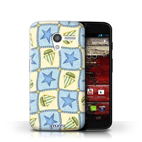 iCHOOSE Hülle / Hülle für Apple iPhone 5C / harter Plastikfall für Telefon / Collection Boote und Sterne / Blau/Grün Blau/Grün