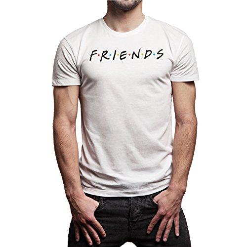 Friends Background Herren T-Shirt Weiß