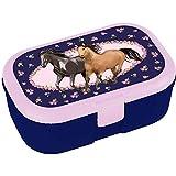Lutz Mauder Lunchbox * Pferdefreunde * für Kinder Brotdose ohne Namensdruck | Perfekt für Mädchen | Vesperdose Brotzeitbox Brotzeit Pferde Pony Reiten Schule...