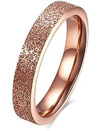 YAZILIND moda joyería exquisita rosa chapado en oro anillo de acero titanio