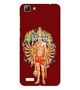 ifasho Lord Hanuman Back Case Cover for VIVO Y53