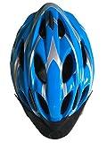 Fahrradhelm, Erwachsener Fahrrad-Sturzhelm-Fahrrad-Sturzhelm-Reithelm Road, Mountainbike Helm, Rosa und Blau Farbe, L (58-62cm), Y-02 (Blau)