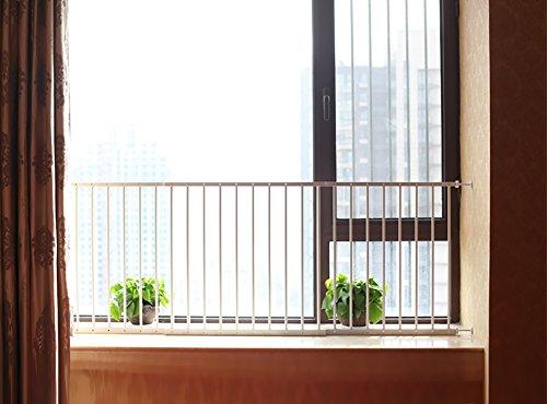fenstergelaender Kindersicherung Fenster Geländer, Fenstergeländer, Kinderschutz Fenster Sicherheit Anti-Diebstahl-Netzwerk Punch Free (größe : 91-157cm)