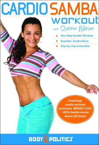 The Cardio Samba Workout: Brazilian samba fitness classes, Samba how-to, Samba dance instruction with Quenia Ribeiro [DVD] [ALL REGIONS] [NTSC] [WIDESCREEN] [UK Import]