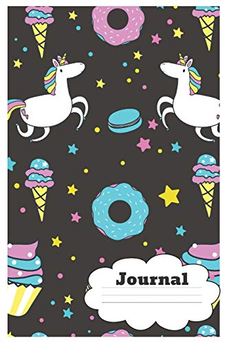Journal: Funny Cupcake Notebook/Journal to Write in, for Every Sweets Lover, Lined Journal Paper, 6x9, Featuring Unicorns&Donuts&Ice-Creams Design