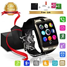 Smartwatch, Impermeable Reloj inteligente con Sim Tarjeta Camara Whatsapp, Bluetooth Tactil Telefono Smart Watch Sport Fitness Tracker Smartwatches Compatible Android IOS iphone Samsung Huawei sony para Hombre Mujer Niño Niña