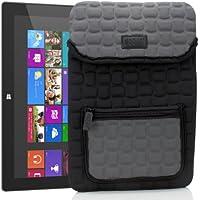 Funda para Tablet de 10 Pulgadas | Carcasa Protectora Universal de Neopreno acolchado con Bolsillo color Gris