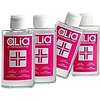 ALIA•GEL, gel igienizzante mani senz'acqua - Confezione da 4 pezzi (100 ml ciascuno) – Sanitizzante per la pulizia delle mani senza risciacquo