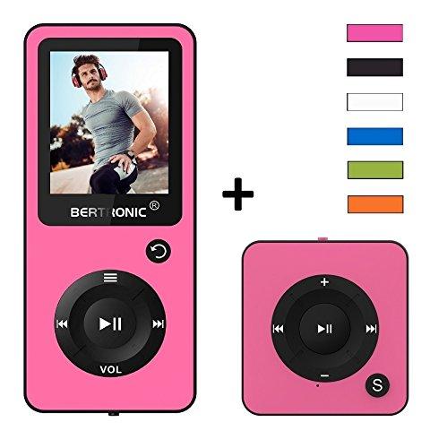 MP3-Player Royal BC02 DUO Pack - 100 Stunden Wiedergabe, Lautsprecher, Kopfhörer, Schrittzähler, Hörbücher, Radio, microSD Kartenslot bis 128 GB microSD Karten - inkl. Mini MP3 Player von BERTRONIC