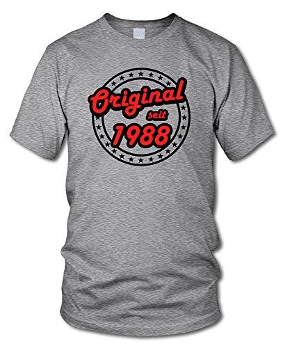 shirtloge - ORIGINAL SEIT 1988 - KULT - Geburtstags T-Shirt - in verschiedenen Farben & Größen Grau-Meliert