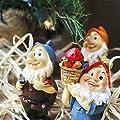 Set von 6Mini Gnome Figuren–Gartenzwerge–Fairy Garden Gnome Figuren, verschiedene Farben, 4,3x 10,2x 4,1cm von Juvale auf Du und dein Garten