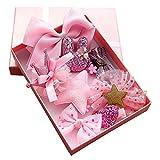 Cozywind Haarspangen Haarbögen für Mädchen Baby Haar Clip für Kinder Boutique Haarklammern Haarschmuck Set mit Geschenkbox für Kleinkind Barrettes 10pcs (Rosa)