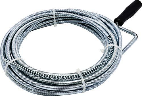3 m & 10 m Rohrreinigungsspirale mit Bohrspitze für Abfluss & Siphon Dusche Waschbecken Bad (10 m x 8 mm)
