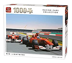 King Racing Cars Collection Red Lightning 1000 pcs Puzzle - Rompecabezas (Puzzle Rompecabezas, Vehículos, Adultos, Hombre/Mujer, 8 año(s), Cartón)