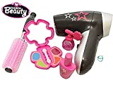 #5: Akhand Beauty Set for Girls with Battery Operated Hair Dryer, Pink Color