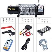 13000lbs/5909kg Cabestrantes eléctricos Offroad 4 x 4 12 V con Cuerda de alambre y Wireless remote control EJLX