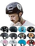 Skullcap BMX Helm Skaterhelm Fahrradhelm Herren | Damen | Jungs & Kinderhelm- Gr. L (58 - 61 cm), Black-8 NextLevel
