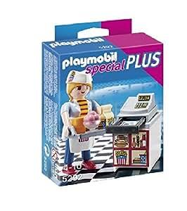 Fille de Playmobil spécial plus caissier Figurine