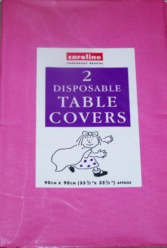 Tablecloth hot pink paper Disposable Twin Pack 90 x 90 by FANCYDRESSCOZ -