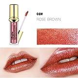 Yogogo 12 Couleurs Longue DuréE Rouge à LèVres Liquide Mat Waterproof Hydratant Brillant Maquillage à LèVres Lip Gloss Longue Tenue Gloss Lipstick (H)