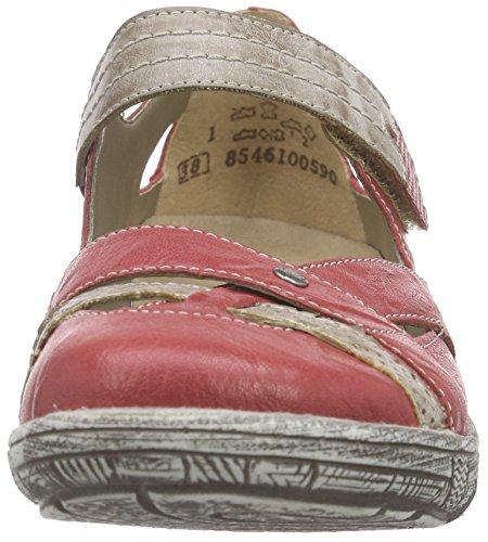 Remonte D3805 Damen Geschlossene Ballerinas Rot (rosso/steel/fire / 33)