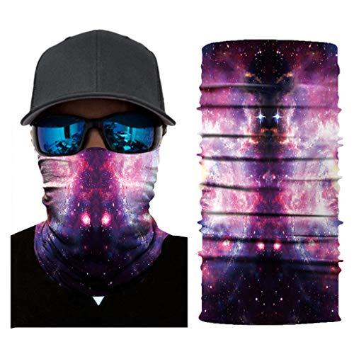 Bedrucktes Multifunktionstuch Bandana Halstuch Kopftuch Gesichtsmaske Balaclava atmungsaktiv Halloween Maske fürs Motorrad,Fahrrad- und Skifahren (C) ()