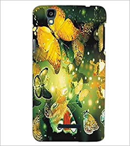 MICROMAX YU YUREKA BUTTERFLIES Designer Back Cover Case By PRINTSWAG