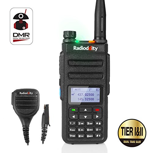 Radioddity GD-77 Dual Band Dual Time Slot DMR Digital / Analog Two Way Radio 1024 Channels PMR Ham Amateur Radio Compatible with MOTOTRBO, Free Programming Cable + Ursprünglicher - Ham-radio-lautsprecher