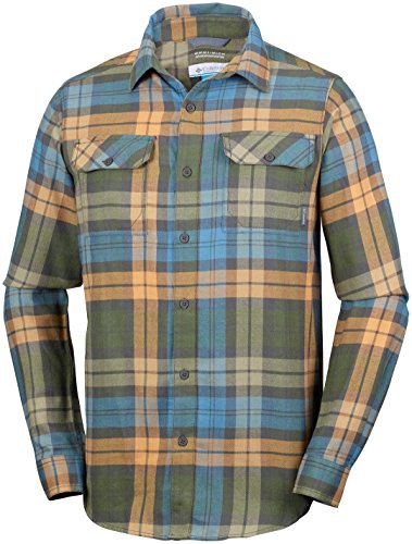 Columbia Flare Gun™ Flannel Iii Long Sleeve Shirt Canyon Gold Blanket Plaid XL (Plaid Canyon Shirt)