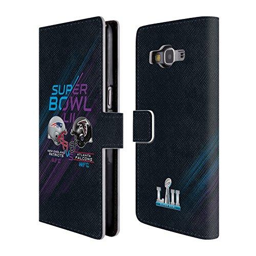 Head Case Designs Offizielle NFL Patriots Vs Eagles 2 2018 Super Bowl LII Versus Brieftasche Handyhülle aus Leder für Samsung Galaxy Grand Prime