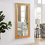 Creative Arts N Frames Vibrant Copper Imported Fiber Wood Made Framed Wall Mirror || Size - 15 X 40 Inch || Water Resistant And Termite Free Synthetic Imported Fiber Wood Made ||