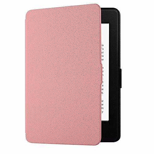 EasyAcc Funda para Kindle Paperwhite Ligera con Función de Auto-Sueño/Estela para Kindle Paperwhite 2012, 2013, 2015, Rosa