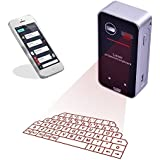 LEEHUR Bluetooth Laser Projektor virtuelle Tastatur mit Maus funktion Virtuelle Tastatur für Smartphone Tablet PC Laptop (Ohne Sprecher, Schwarz)