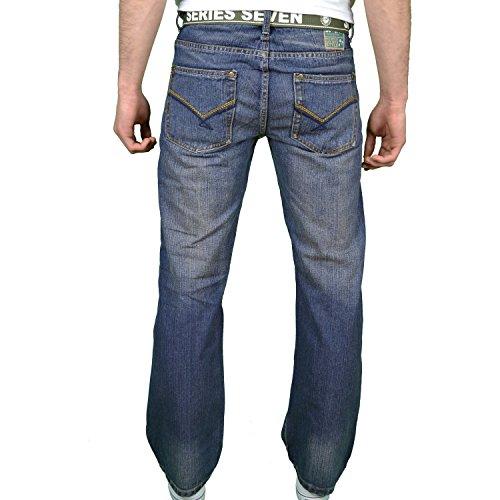 Seven Series Herren Jeanshose Blau Blau Blau - Darkwash