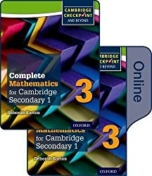Complete Mathematics for Cambridge Secondary 1 Book 3: Print and Online Student Book by Deborah Barton (2016-03-17)