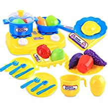 Electronic kitchen toy kids cooking pretend play set toddler plastic - Amazon Co Uk Kids Kitchen Playsets Toys Amp Games