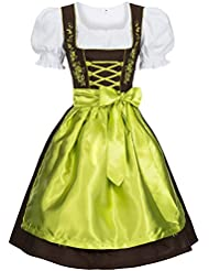 Gaudi-Leathers Dirndl Set 3 Teilig kariert. Trachtenkleid, Dirndl Bluse, passender Schürze in verschiedenen Farben