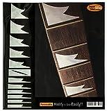Griffbrett Marker Inlay Aufkleber Decals für Gitarre & Bass-Sharktooth IBANEZ Style-WP