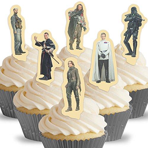 Cakeshop 12 x VORGESCHNITTENE UND ESSBARE Rogue One Star Wars Kuchen topper (Tortenaufleger)