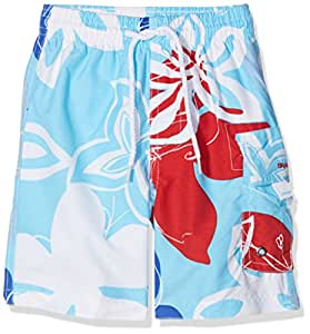 Snapper Rock Boy UPF 50+ UV Protection Swimming Shorts Boardshorts For Kids & Teens Blue/Red 1-2 years, 86-92cm