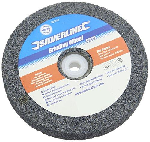 Silverline 380652 Muela Abrasiva de Óxido de Aluminio, 150 x 20 mm, Grueso