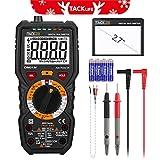Multimètre, Testeur Electrique, Tacklife DM01M Avancé TRMS 6000 Points /Ampèremètre /Voltmètre /Ohmmètre /Ecran LCD Rétroéclairé /NCV /Mesure de Température Noir et Rouge (Livraison Aléatoire)