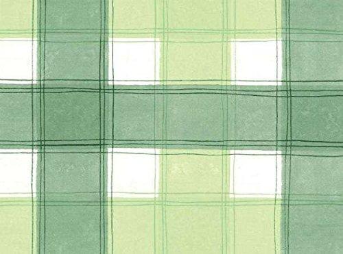 THE TABLECLOTH COMPANY 140 x 250 cm Ovale en PVC/Vinyle Nappe - Bleu et Vert Palette vérifier