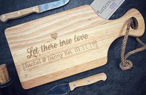 personnalisé Petite planche de Paddle en bois – Idéal pour servir, à découper ou plateau à fromage – gravé avec n'importe quel Message