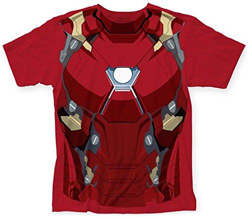 rrenbürgerkrieg Iron Man CW Anzug Big-Druck-T-Shirt, X-Large, Red (Iron Man Spiderman Anzug)