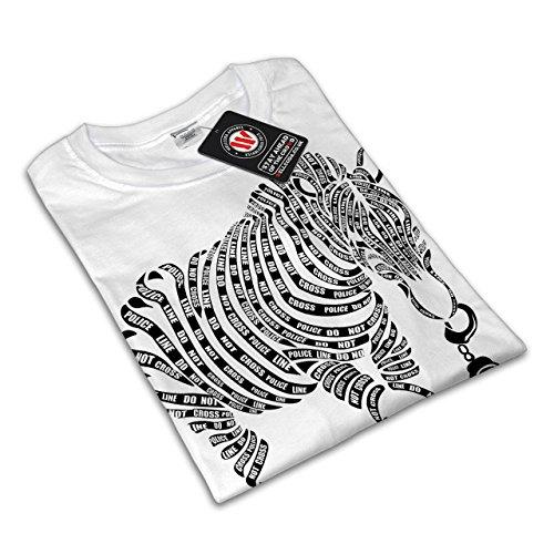 Zebra Band Kunst Polizist Tier Damen S-2XL T-shirt | Wellcoda White