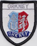 Orkney Islands Crest Scotland Scottish Flag Embroidered Patch Badge