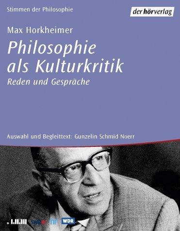 Philosophie als Kulturkritik, Reden und Gespräche, 6 Audio-CDs