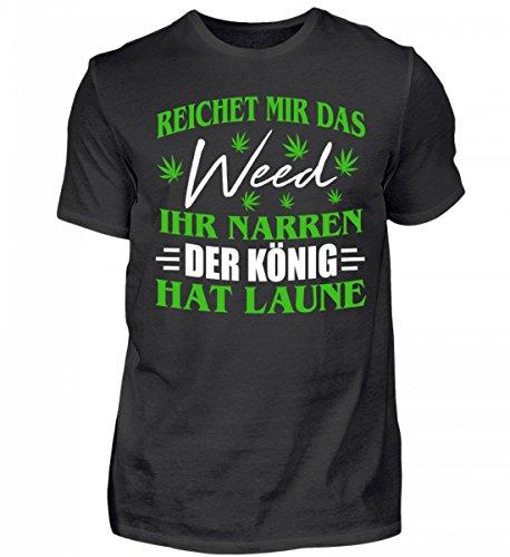 286125c5ac0185 Shirtee Hochwertiges Herren Shirt - Hanf Shirt Kiffer Gras Cannabis Marihuana .  Infos zu den Nutzungsrechten. Cooles T-Shirt für Männer NATURAL BORN ...